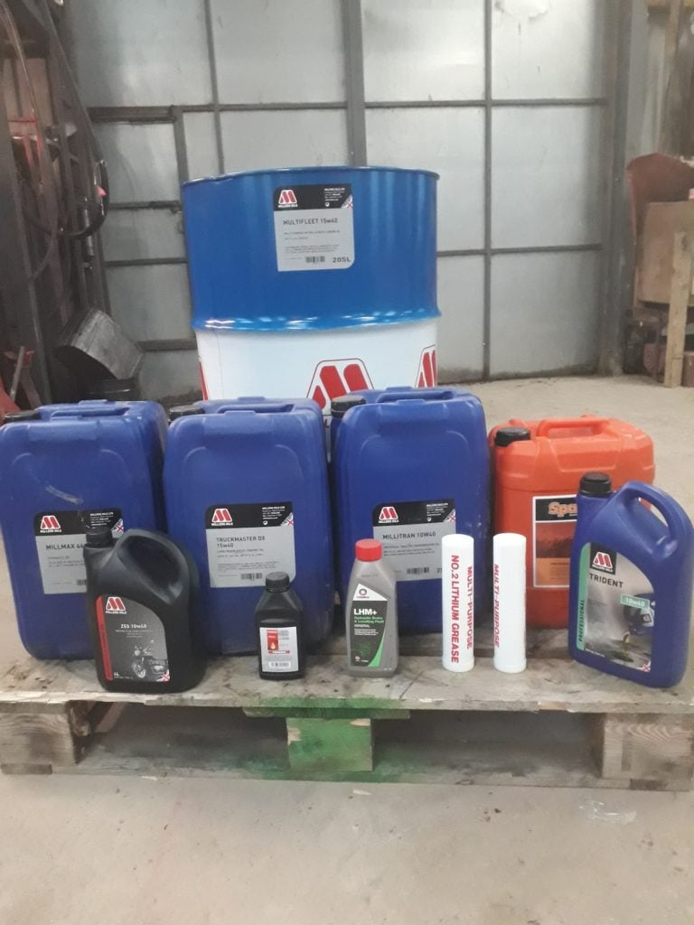 Oils and lubricants by Williams Agricultural Engineering