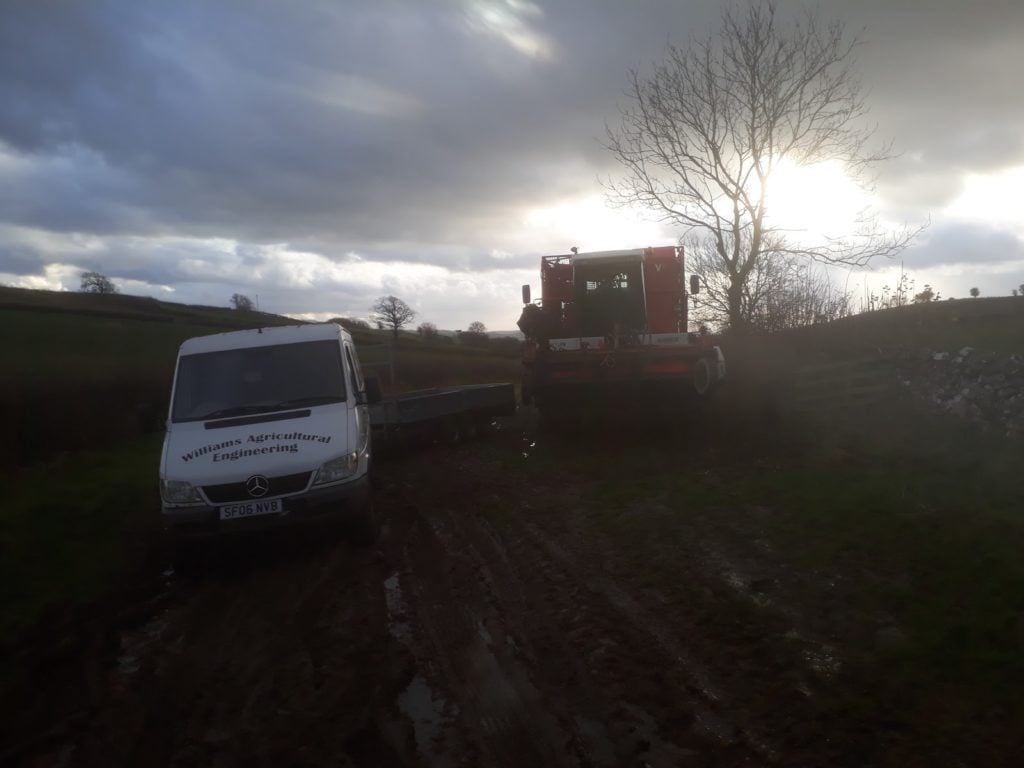 Williams Agricultural Engineering Van in twilight